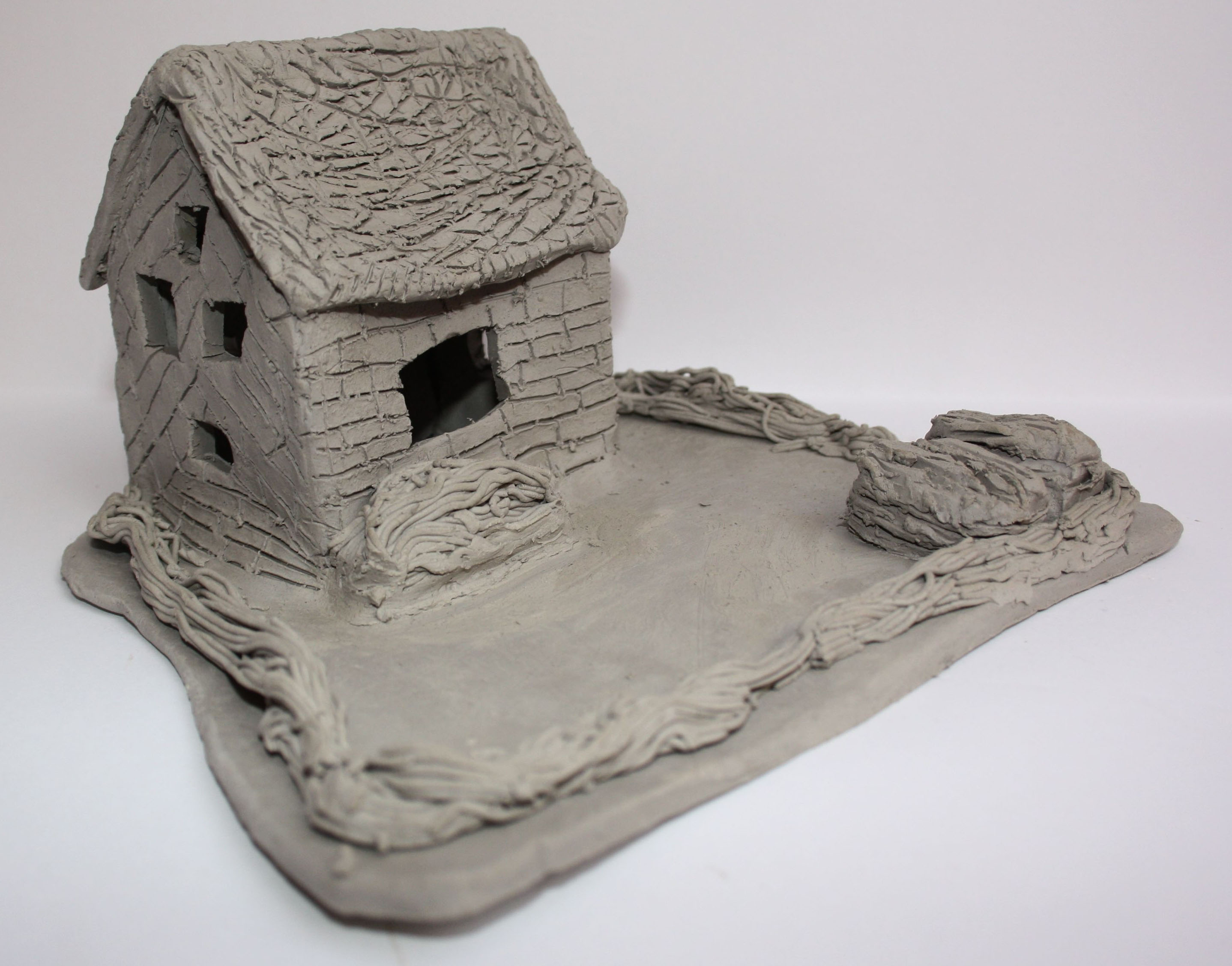 Clay house art project